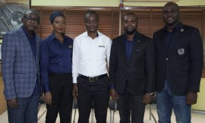 Temi-Tope Ogbeni-Awe, Founder and Chief Service Officer, Omoh Imanah, PR/Marketing Executive; Livinus Ogbeh, Account Executive; Mohammed Abdullahi, Principal PR/Media Consultant and Olanrewaju Samson, Events and Brand Activations Consultant, all at TOPCOMM