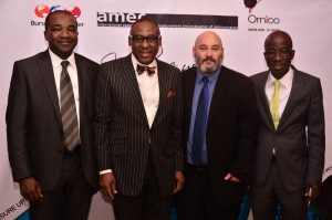 Country Managing Director, Accenture Nigeria, Niyi Yusuf; MD, CMC Connect , Yomi Badejo-Okusanya; Facilitator, Francois Van Dyk and Executive Director, CMC Connect, Raheem Olabode at the  PR Measurement and Evaluation  workshop facilitated by CMC Connect & Ornico  in  Lagos, Tuesday 27th September, 2016.
