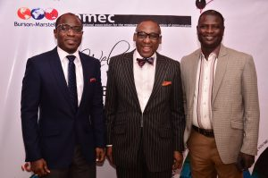 Head, Public Relations, Airtel Nigeria, Adefemi Adeniran; MD, CMC Connect, Yomi Badejo-Okusanya and Manager, Corporate Communications , Lafarge Afric a, Ademola Ojolowo at the CMC Connect & Ornico  PR Measurement and Evaluation workshop  held in Lagos, Tuesday 27th September, 2016.