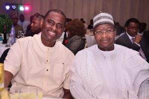 Managing Director and Chief Executive Officer, Airtel Nigeria, Mr. Segun Ogunsanya and Executive Vice Chairman (EVC)/Chief Executive Officer, Nigerian Communications Commission (NCC), Prof. Umar Garba Danbatta during the special reception organised for the NCC EVC by the Association of Telecommunications Companies of Nigeria (ATCON), held on Friday in Lagos.