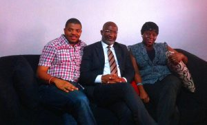 L-R- Lead Consultant, P+ Measurement Services, Philip Odiakose, Head, Corporate Communications, Galaxy Backbone Ltd, Franklyn Ginger-Eke and COO, P+ Measurement Services, Olufunke  Mohammed.