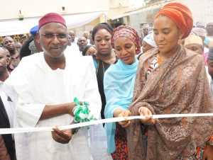 L-R,Kano State Deputy Governor, Prof. Hafees Abubakar, Managing Director   Dangote Foundation,Zouera Youssoufou, Executive Director , Strategy Analyst,Corporate Strategy,  Dangote  Industries Ltd,Mariya Dangote, Executive Director, NASCON Allied Industries Plc, Fatima Dangote,  Commissioning and Handover Ceremony of Dangote Foundation'sQuick Intervetion at the Murtala Mohammed Specialist Hospital Kano, on25th Feb.2017
