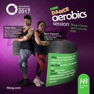 International Women's Day - HB Dance Aerobics - eflyer